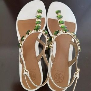 Tory Burch Mariah thong jewelled sandals size 11